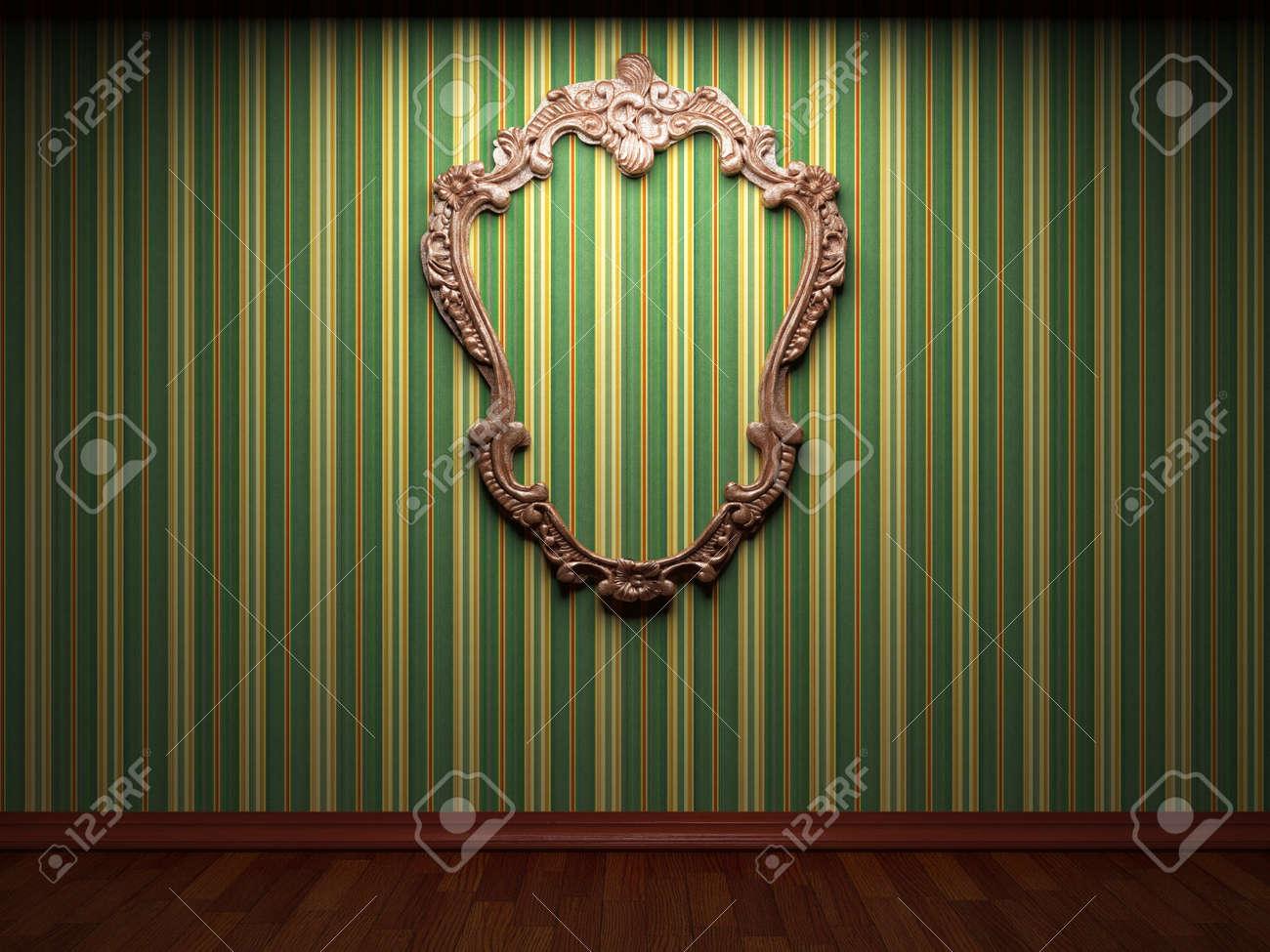 illuminated fabric wall and frame Stock Photo - 7035708