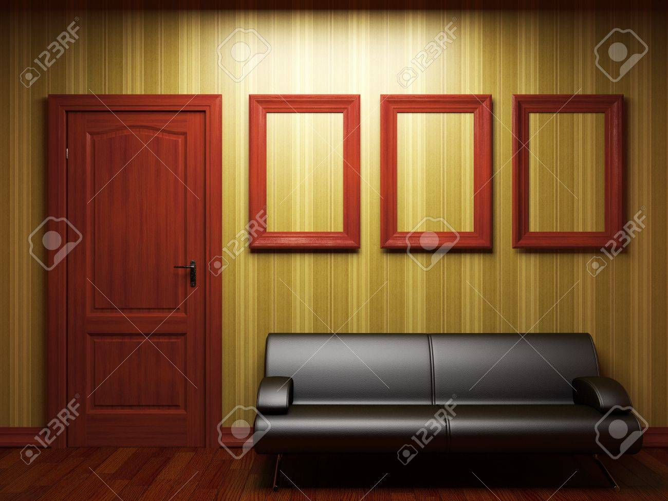 sofa, door and frames Stock Photo - 7068409