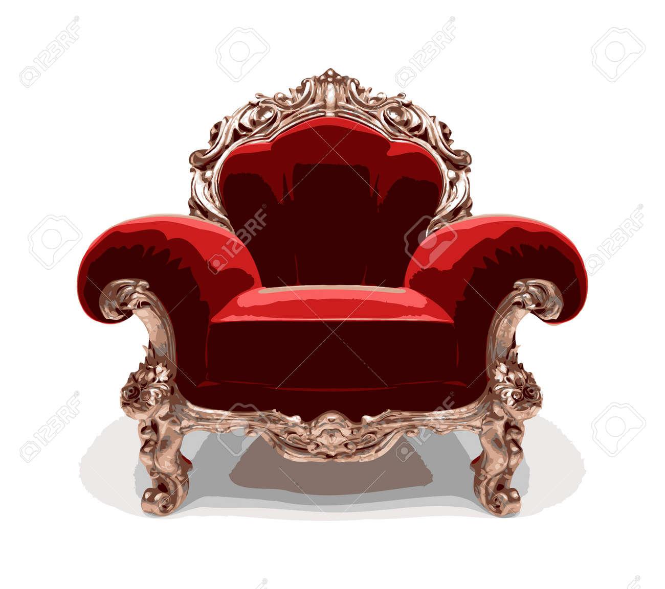 classic golden chair Stock Vector - 7334364