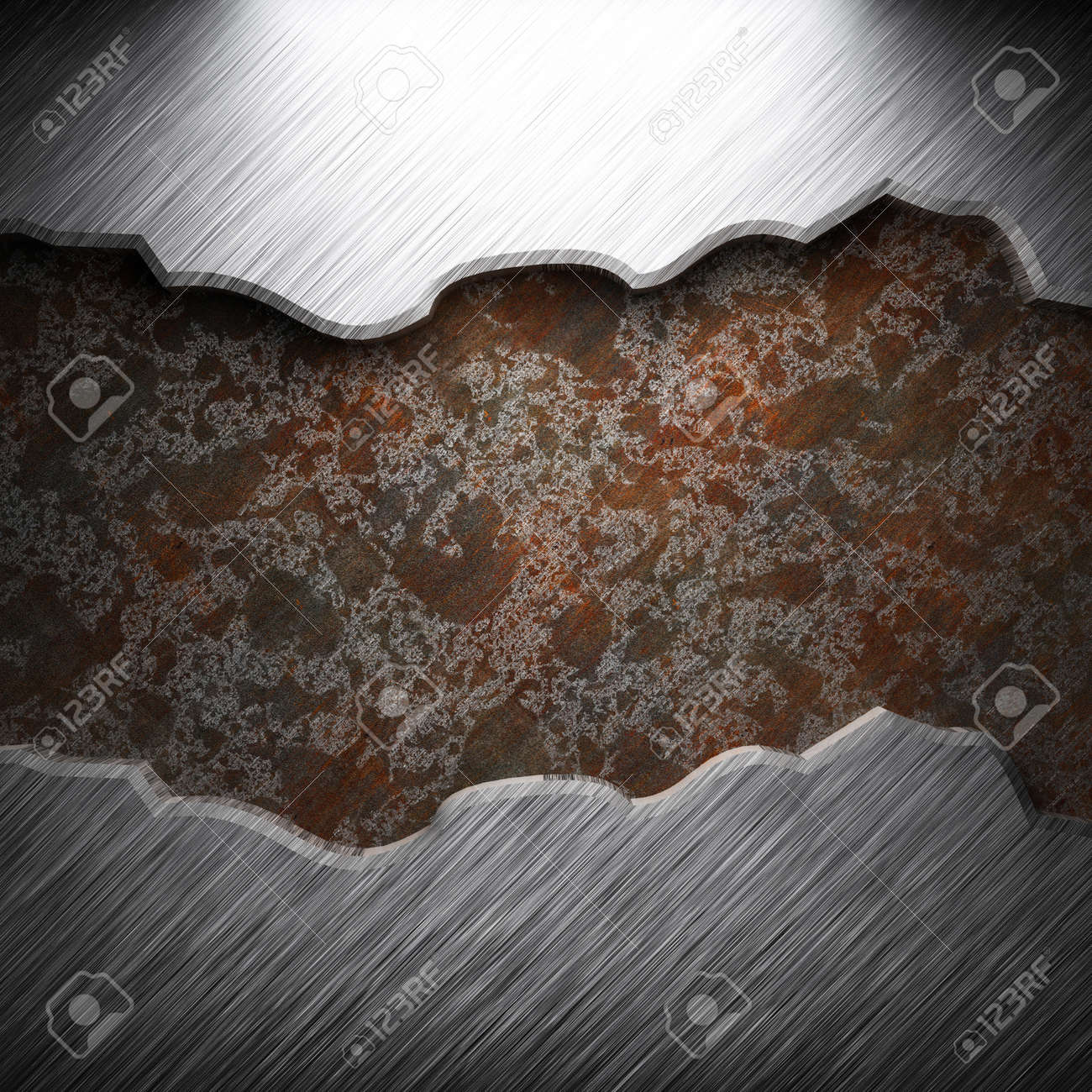 aluminum and rusty metal plate made in 3D Stock Photo - 7758231