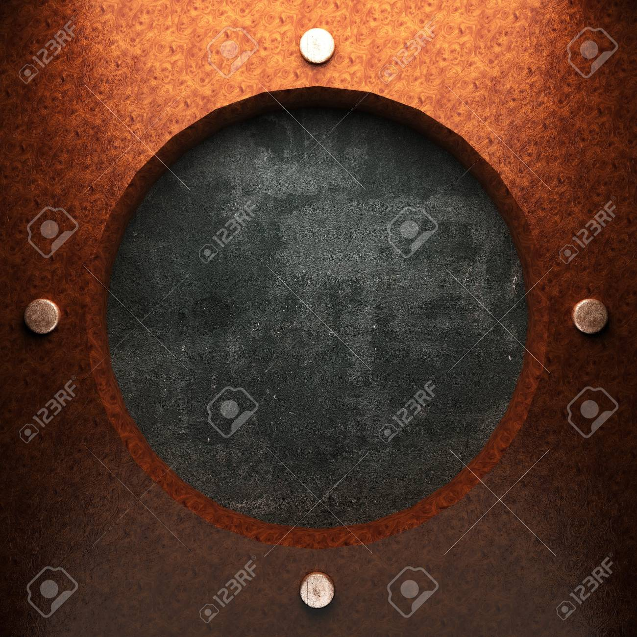 red wood plate on concrete made in 3D Stock Photo - 7905292