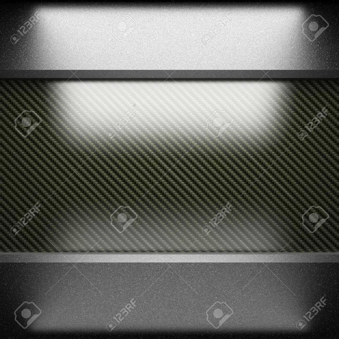 steel plate on carbon made in 3D Stock Photo - 7905242