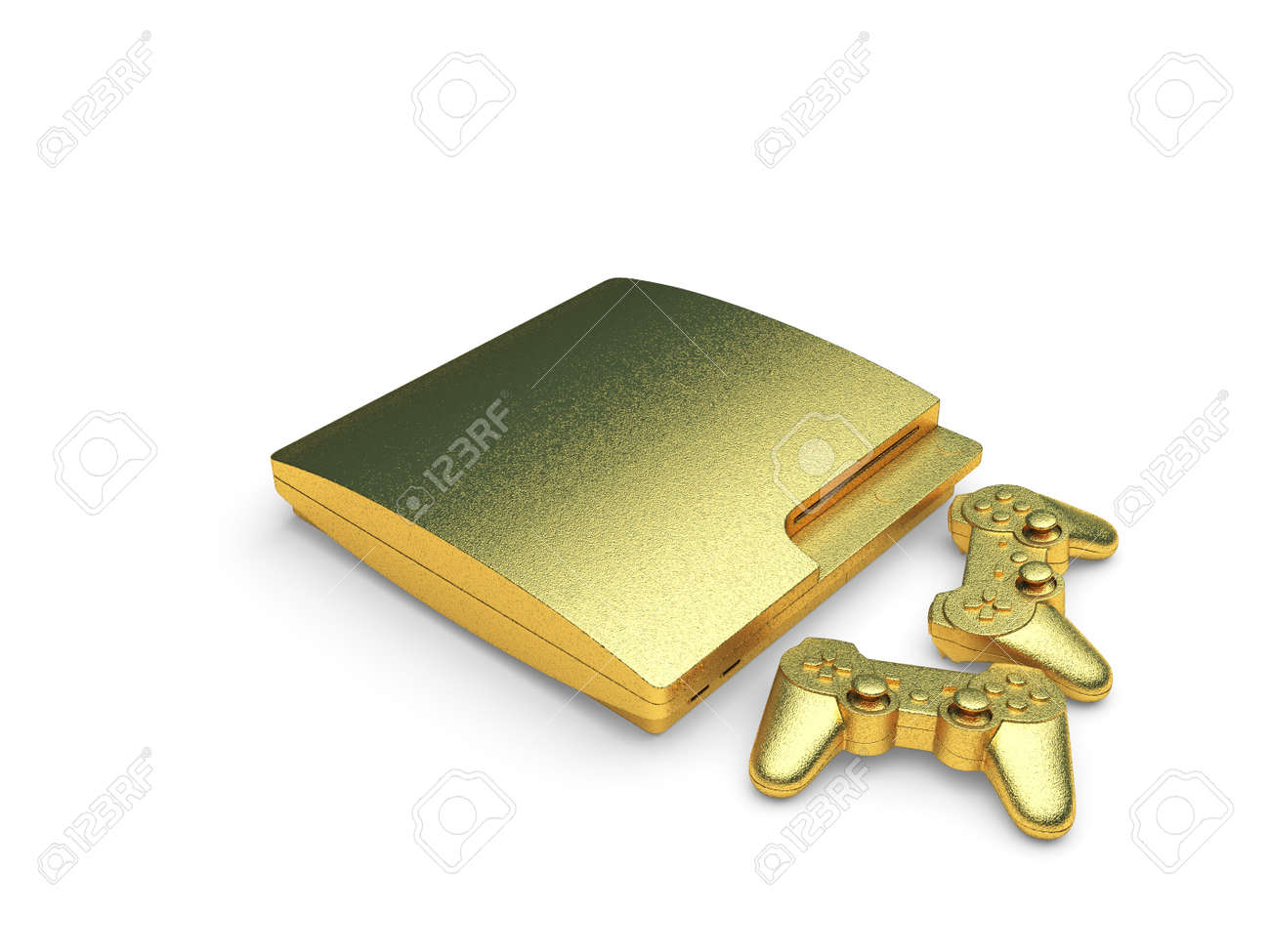 isolated golden console made in 3d graphics Stock Photo - 8116314