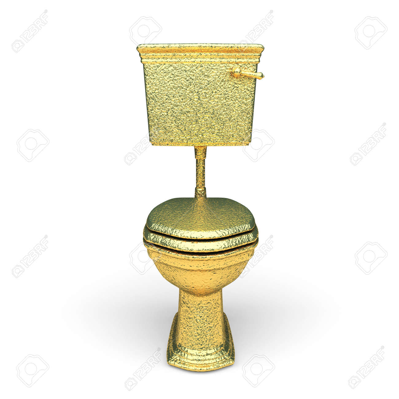 isolated golden toilet bowl made in 3d graphics Stock Photo - 8159455