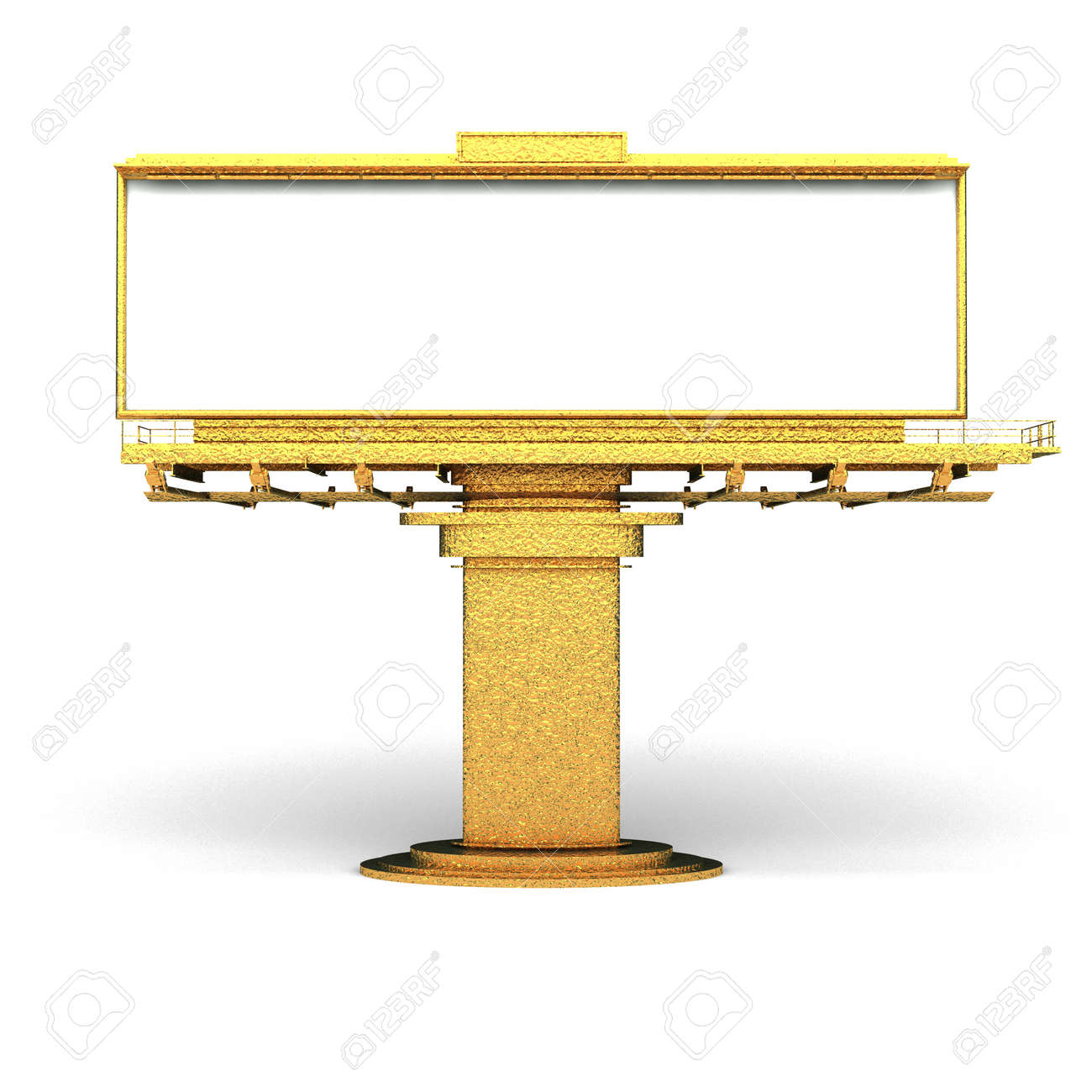 isolated golden Billboard made in 3d graphics Stock Photo - 8159452