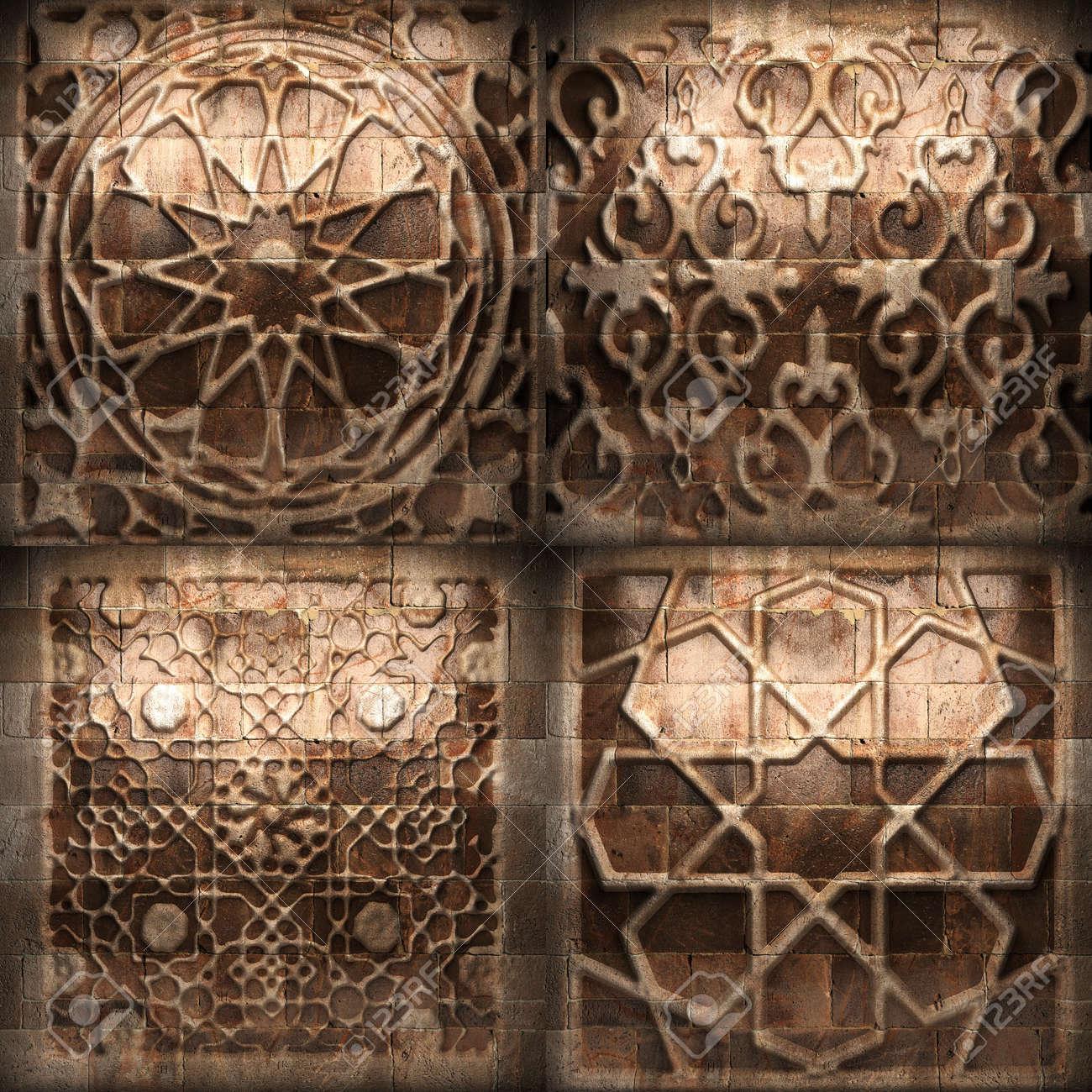 Retro stone ornament Stock Photo - 8358275