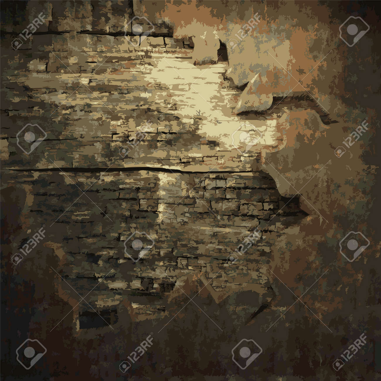 rusty metal and wood plate made in Vector Stock Vector - 8591560