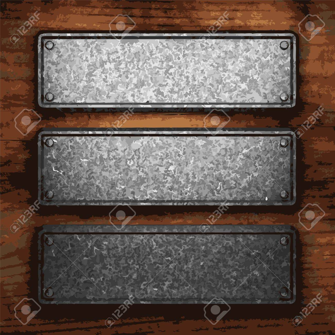 iron plate on wood made in Vector Stock Vector - 8591528
