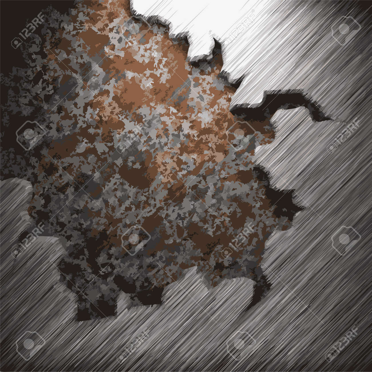 aluminum and rusty metal plate made in Vector Stock Vector - 8591527