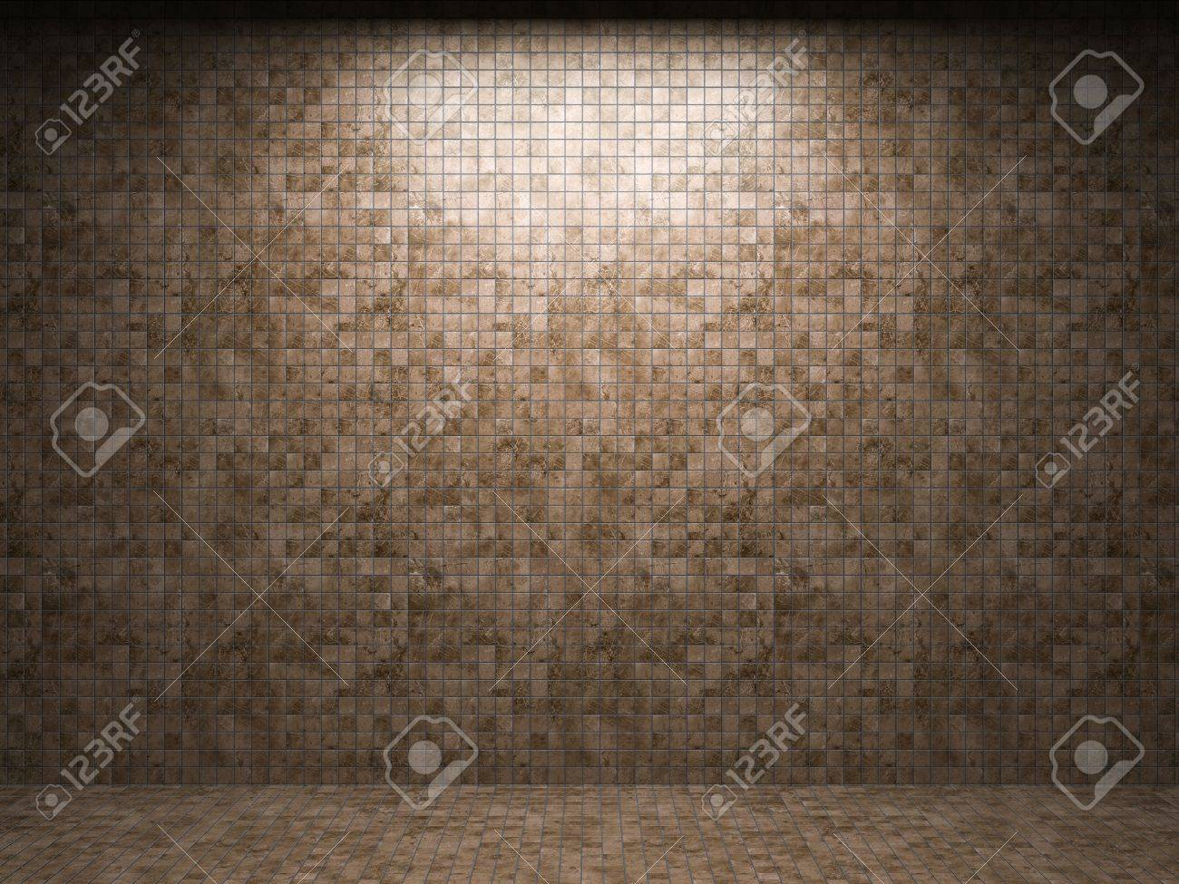 illuminated tile wall made in 3D graphics Stock Photo - 9366774