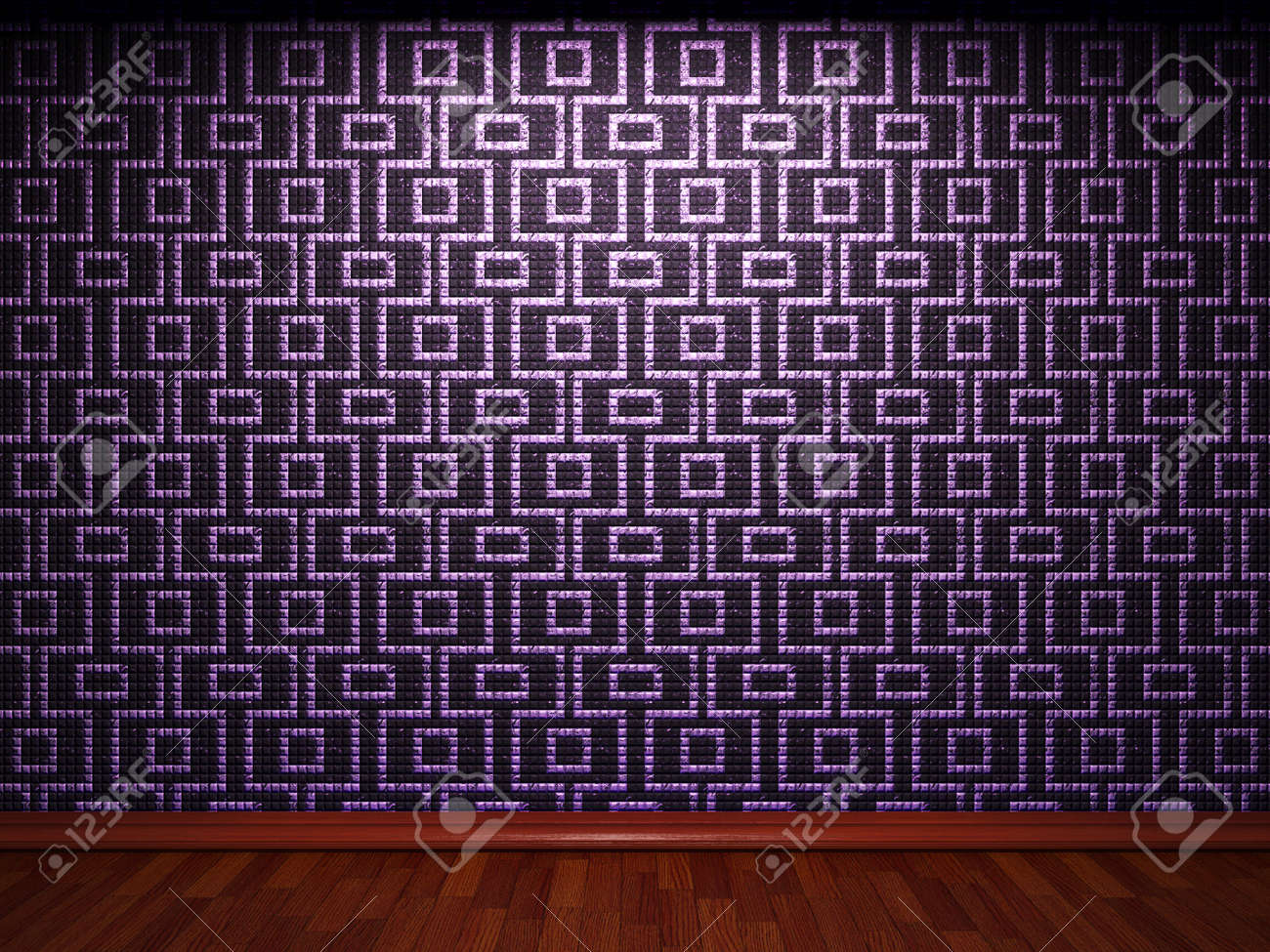 illuminated tile wall made in 3D graphics Stock Photo - 9366814