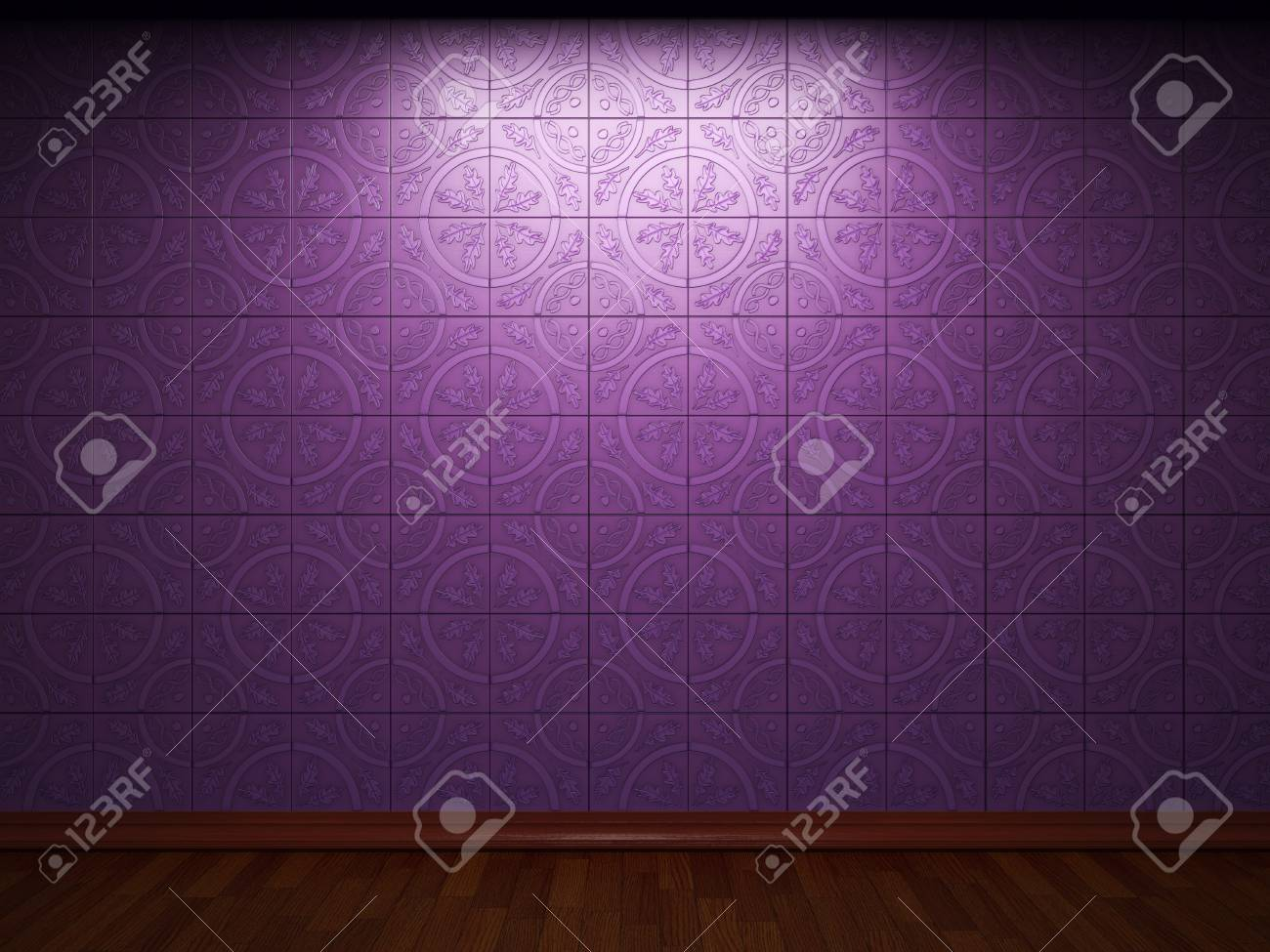 illuminated tile wall made in 3D graphics Stock Photo - 9366748
