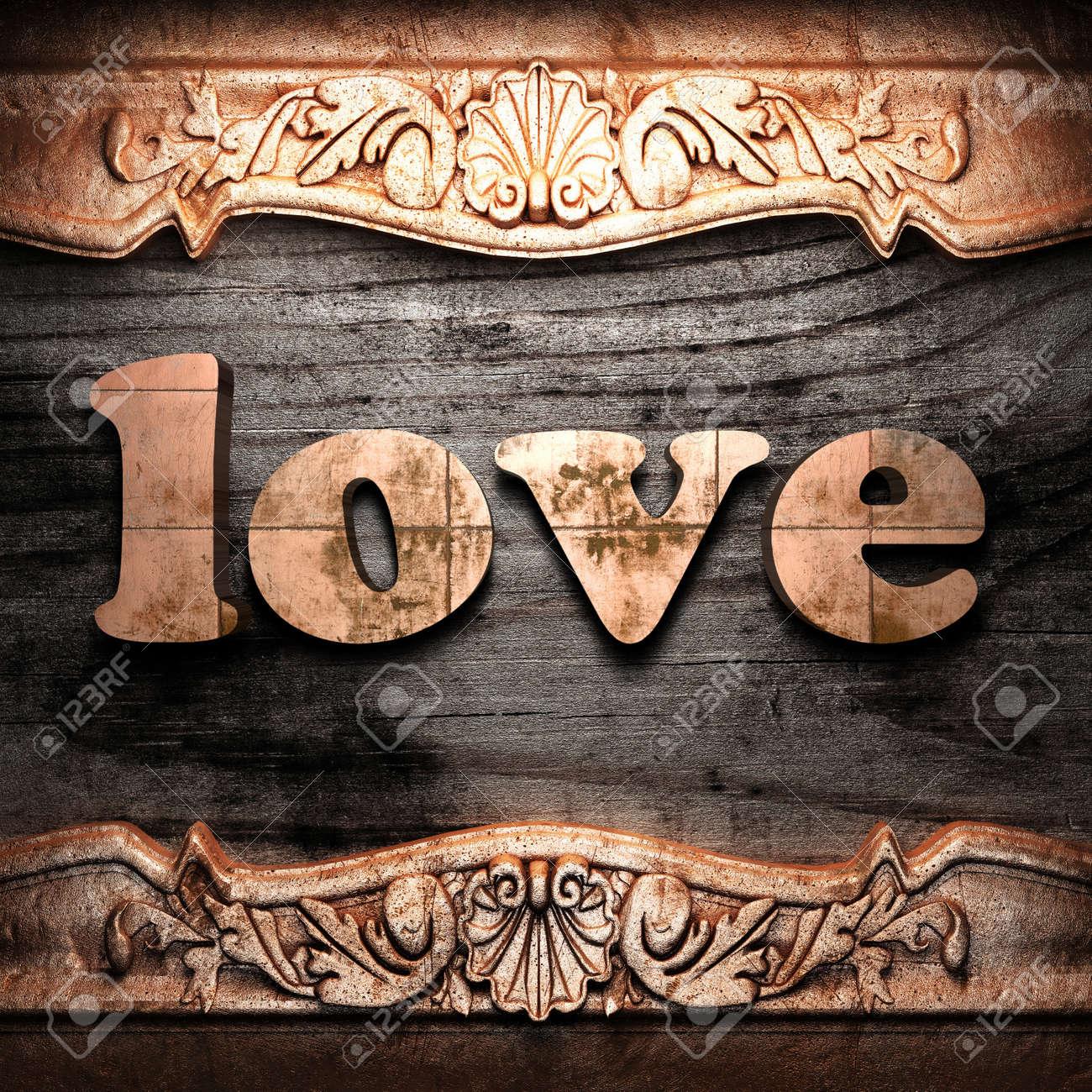 Golden word on wood Stock Photo - 10955224