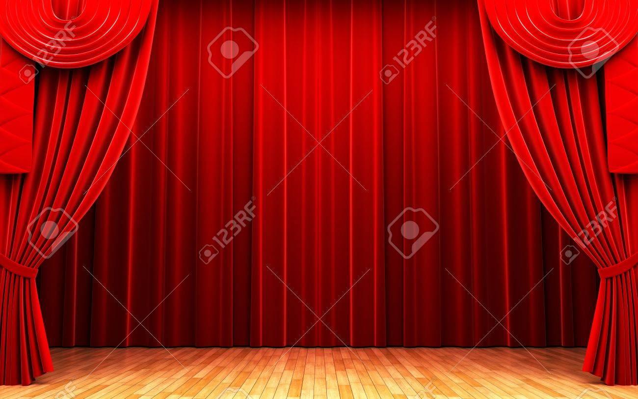Rideau De Velours Rouge Scène Douverture Banque Dimages Et Photos