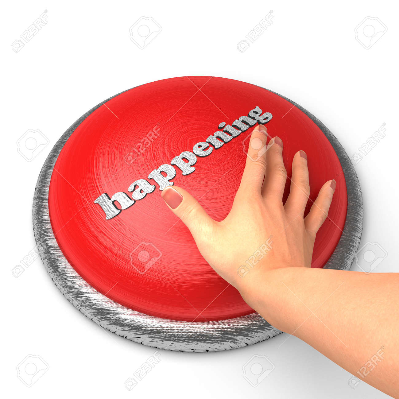 Hand pushing the button Stock Photo - 11362148