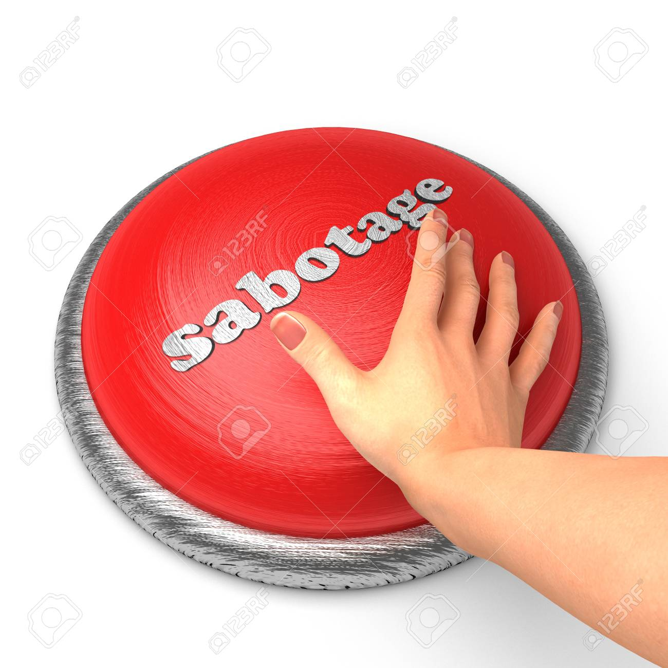 Hand pushing the button Stock Photo - 11389386