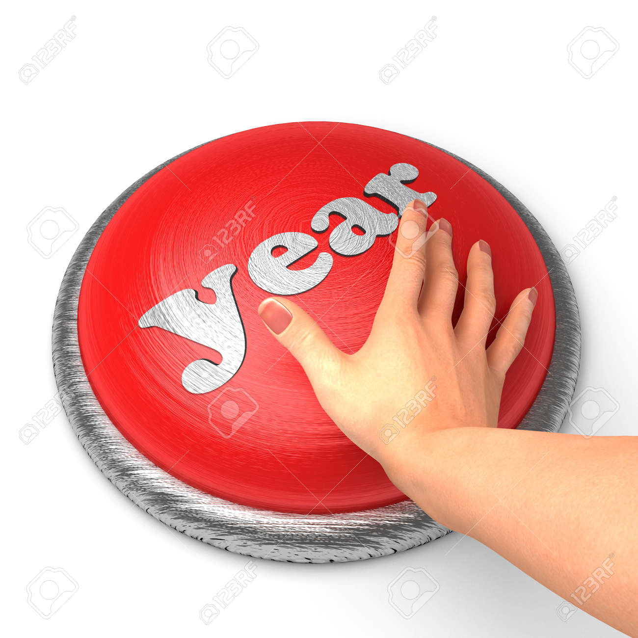 Hand pushing the button Stock Photo - 11403718