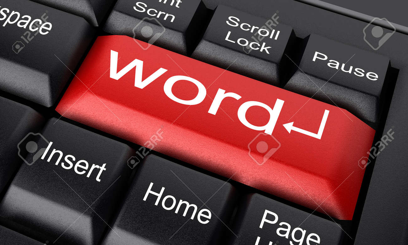 Word on keyboard made in 3D Stock Photo - 11793833