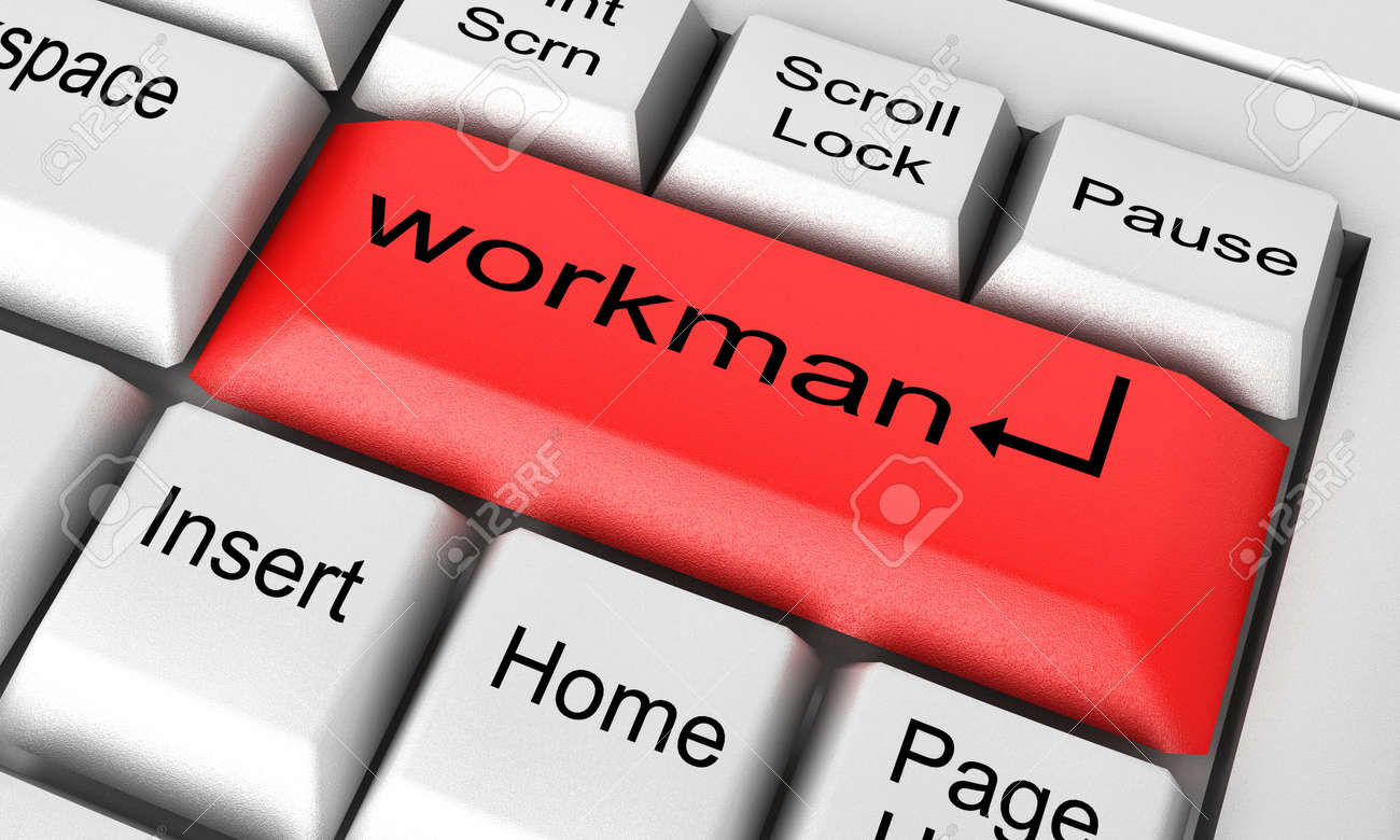 Word on keyboard made in 3D Stock Photo - 12722469