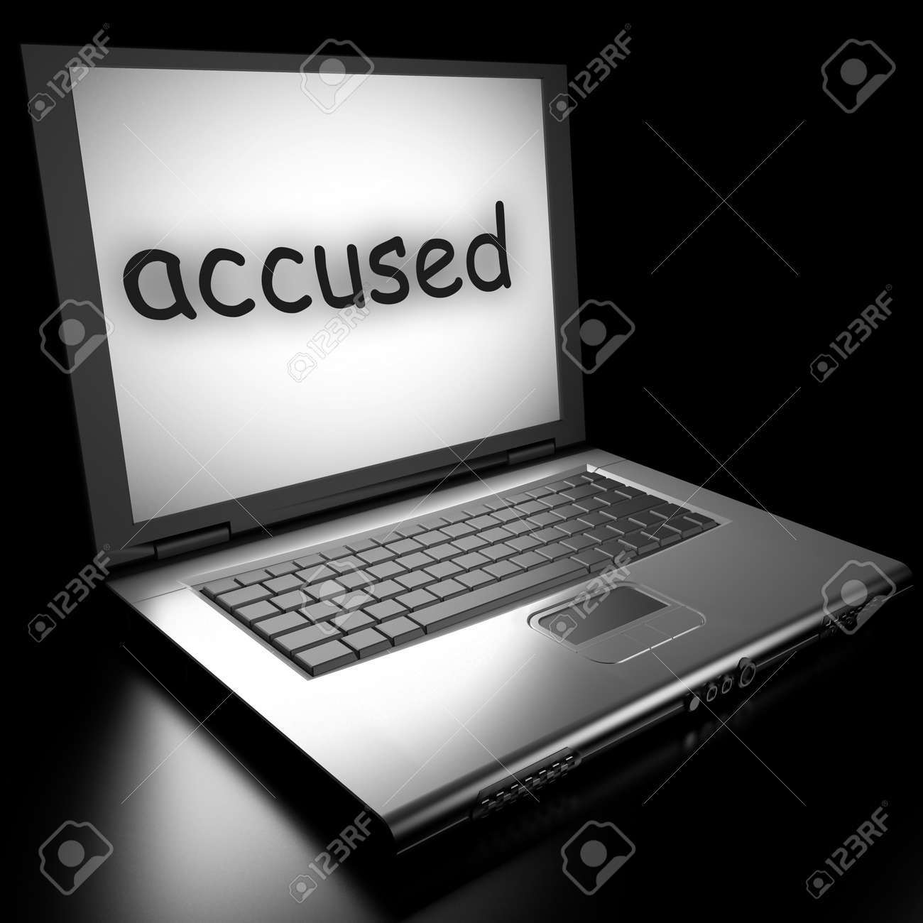 Word on laptop made in 3D Stock Photo - 13010666