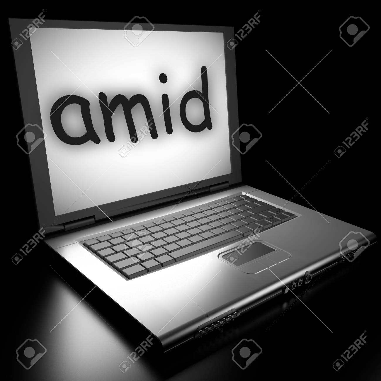 Word on laptop made in 3D Stock Photo - 13006990