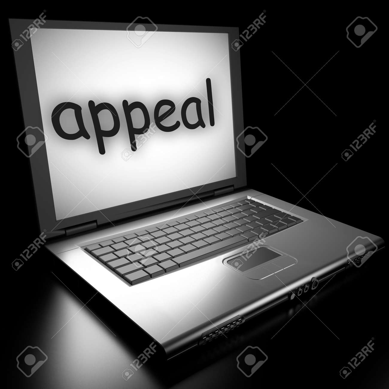 Word on laptop made in 3D Stock Photo - 13010627