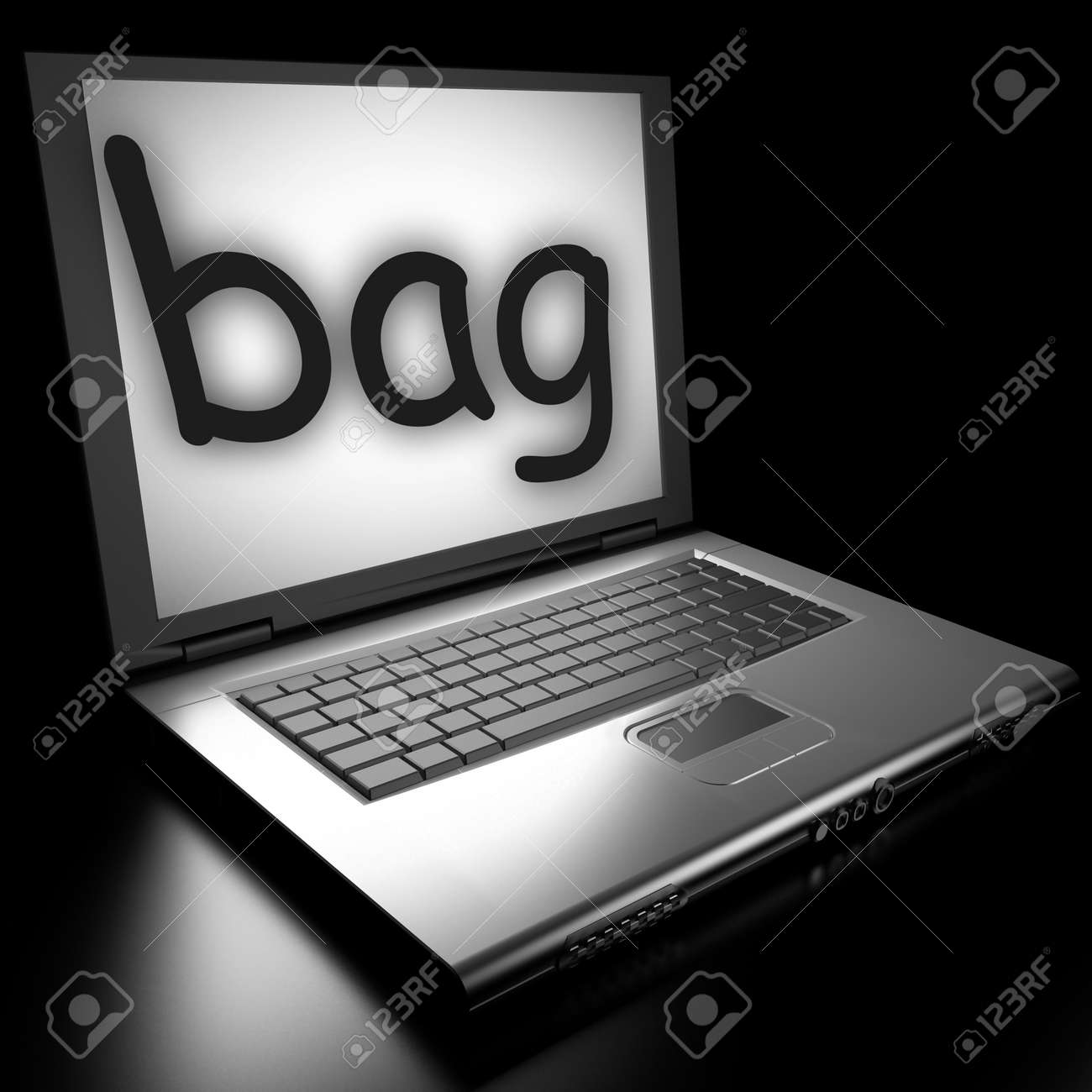 Word on laptop made in 3D Stock Photo - 12986167