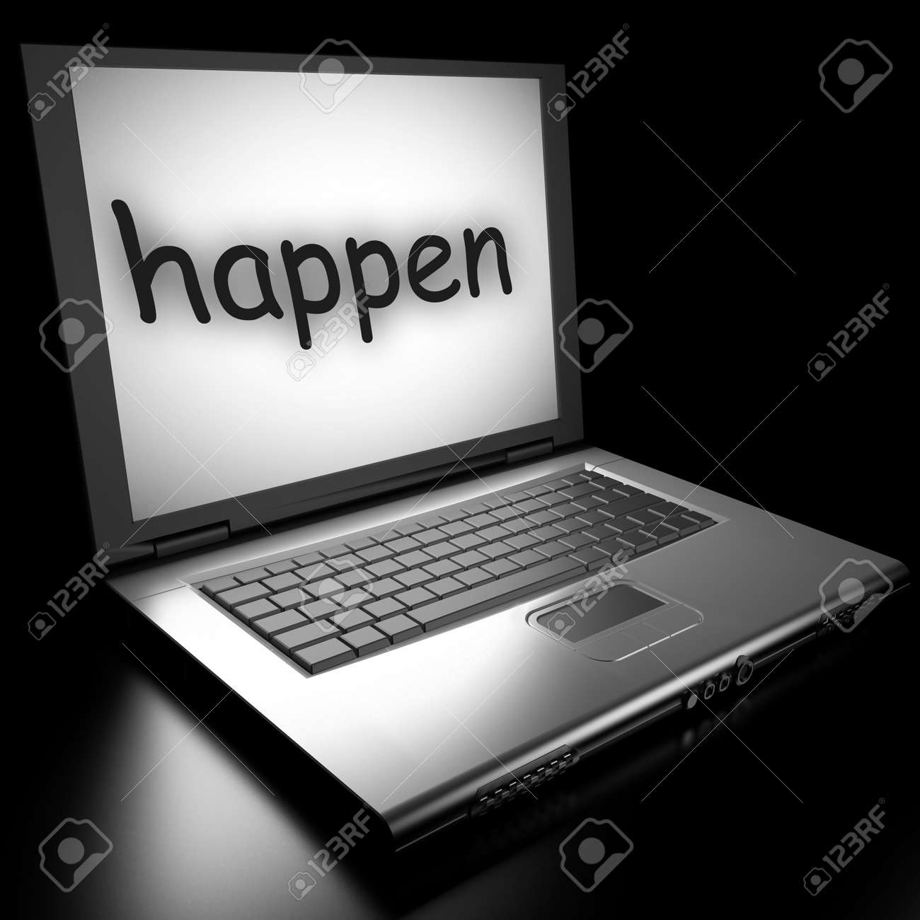Word on laptop made in 3D Stock Photo - 13017296