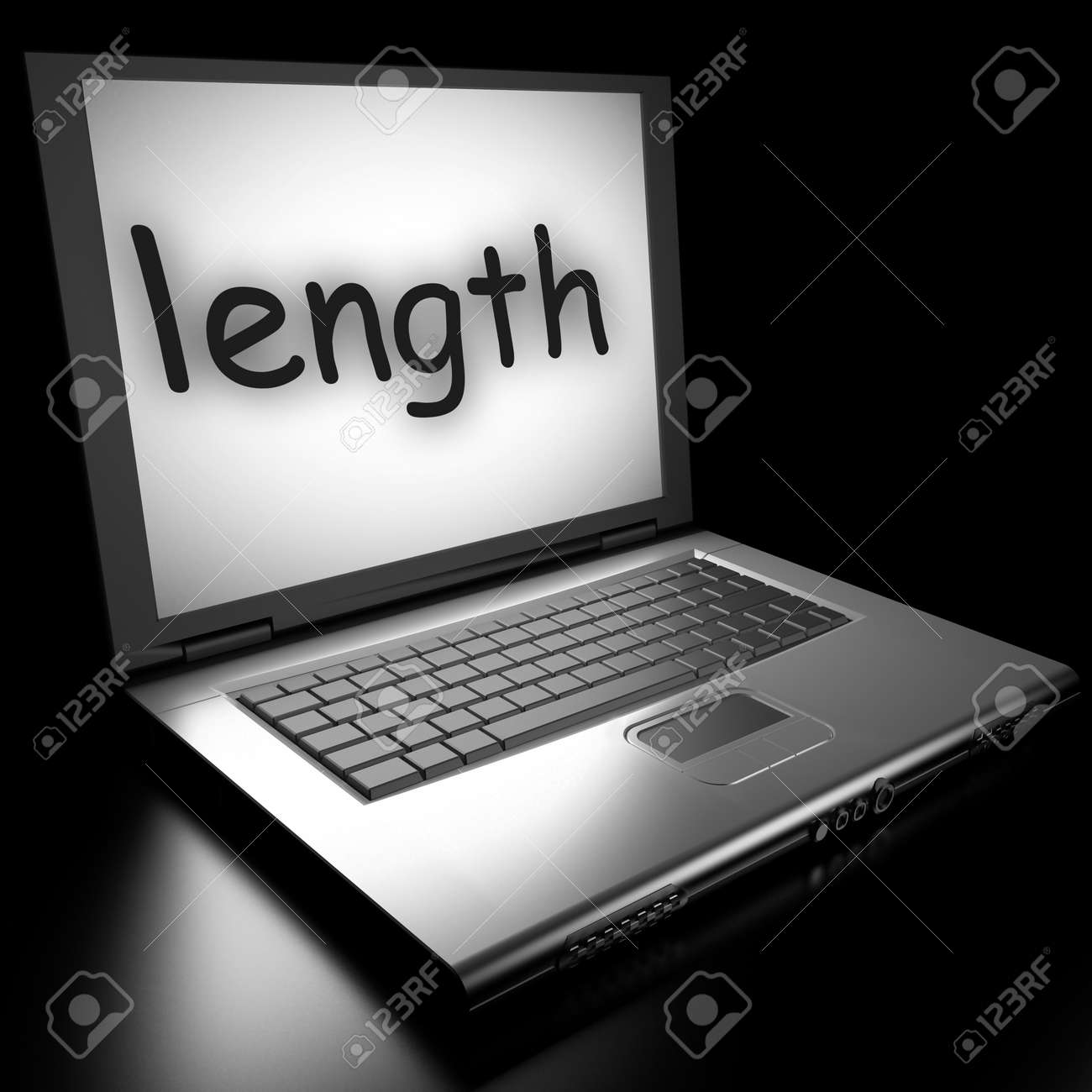 Word on laptop made in 3D Stock Photo - 13017039