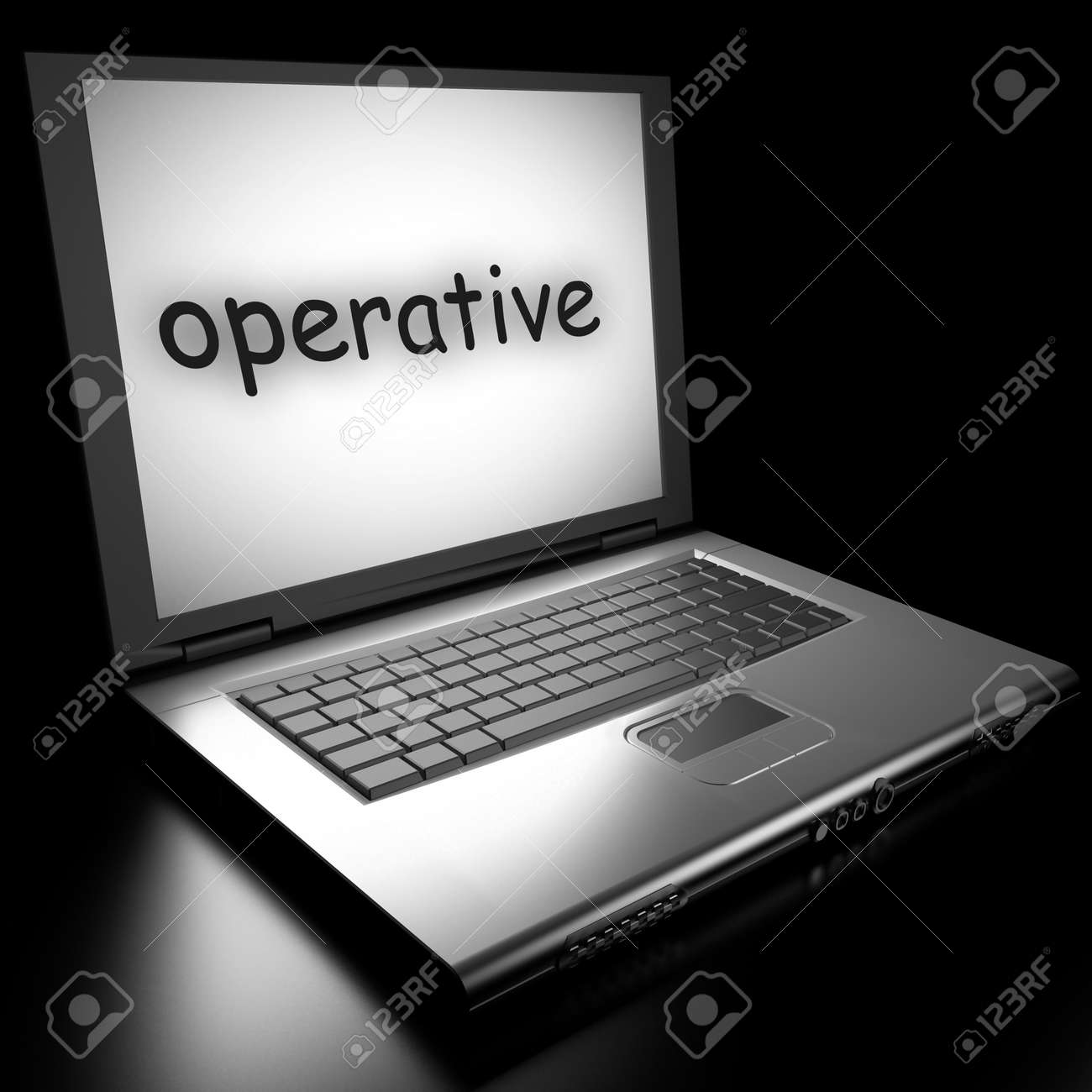Word on laptop made in 3D Stock Photo - 13017956