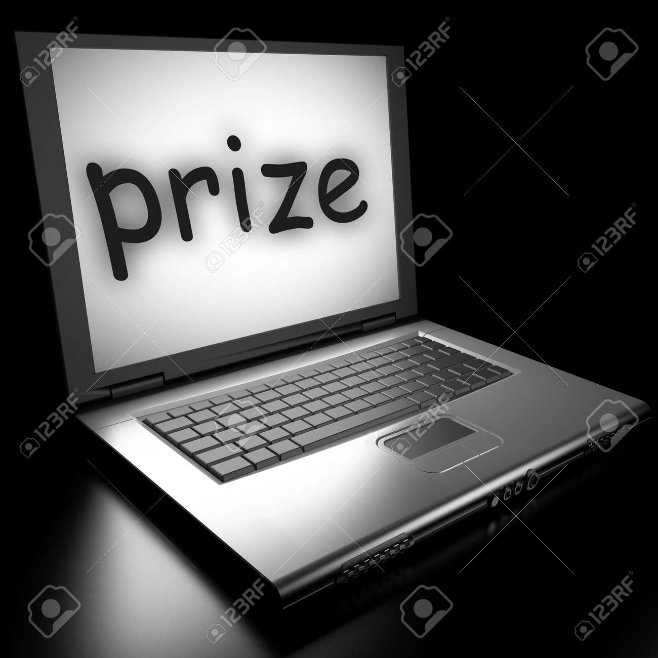 Word on laptop made in 3D Stock Photo - 13035230