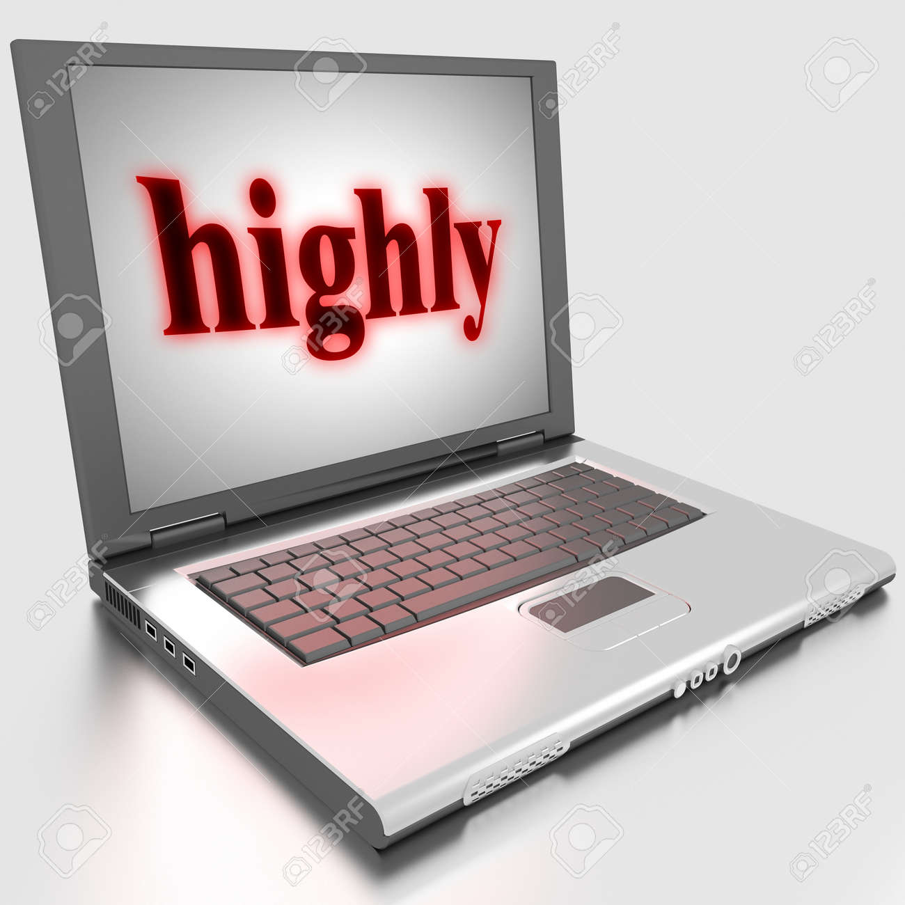 Word on laptop made in 3D Stock Photo - 13422999