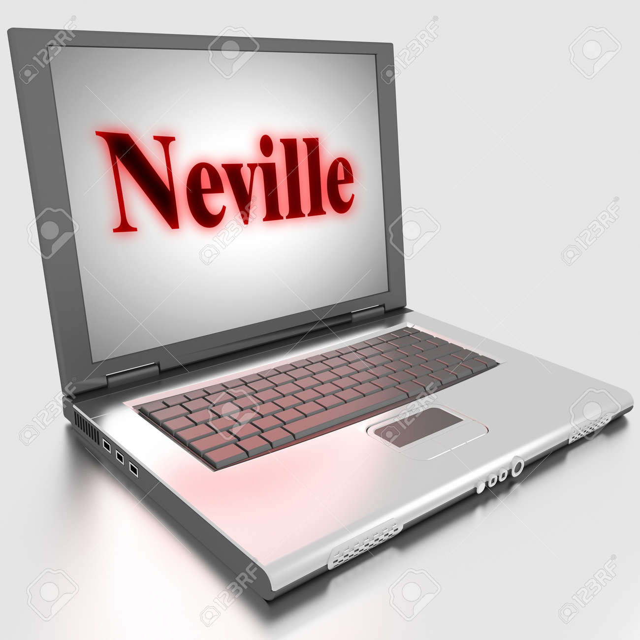 Word on laptop made in 3D Stock Photo - 13398302