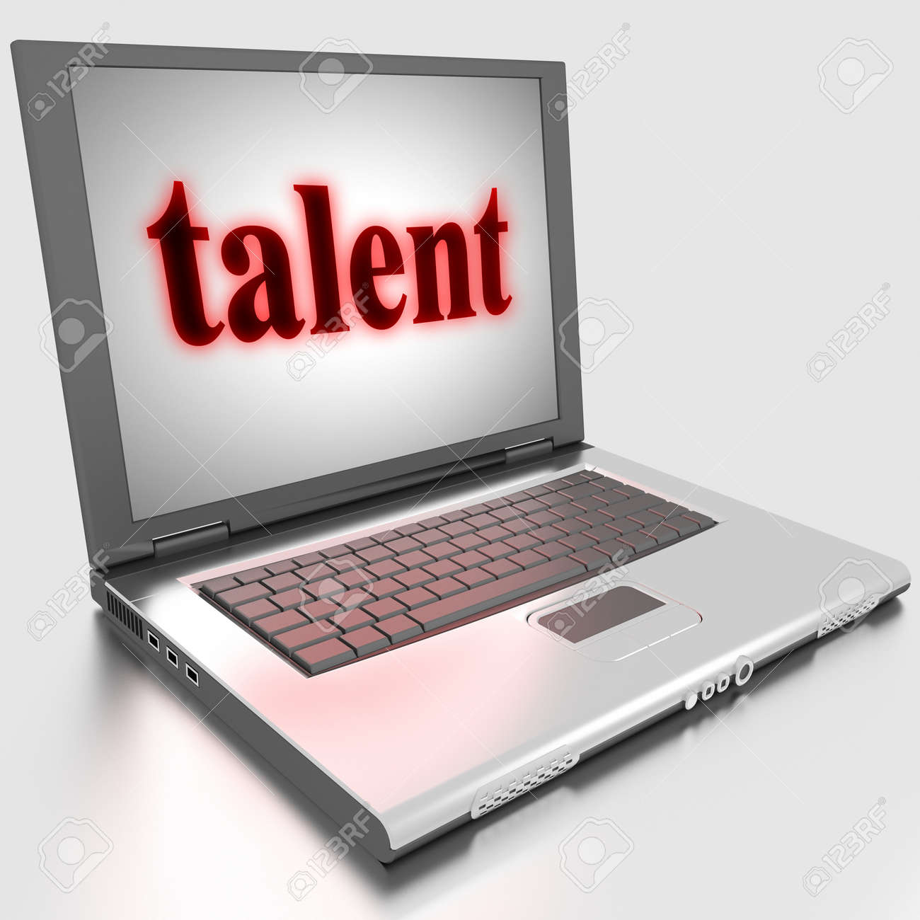 Word on laptop made in 3D Stock Photo - 13398228