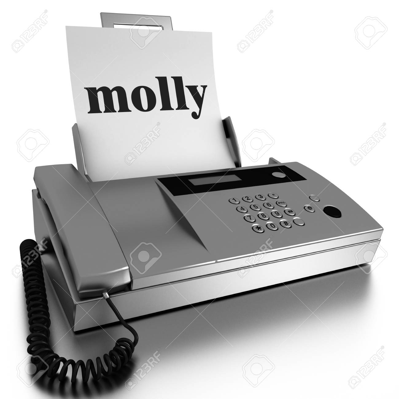 Word printed on fax on white background Stock Photo - 13475598