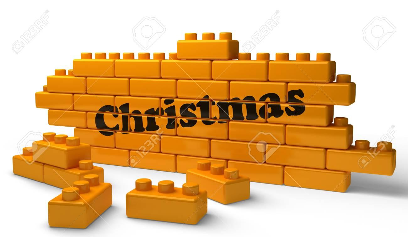 Word on yellow wall Stock Photo - 15344605