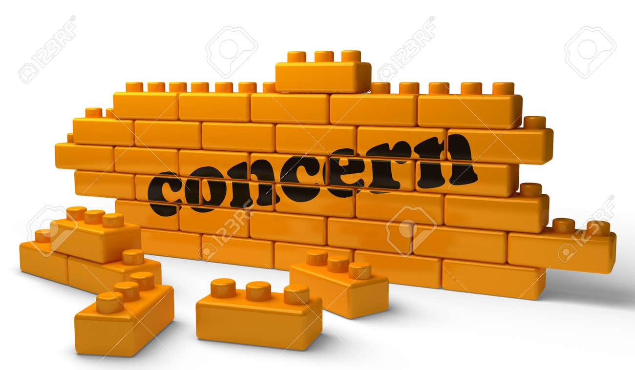Word on yellow wall Stock Photo - 15343194