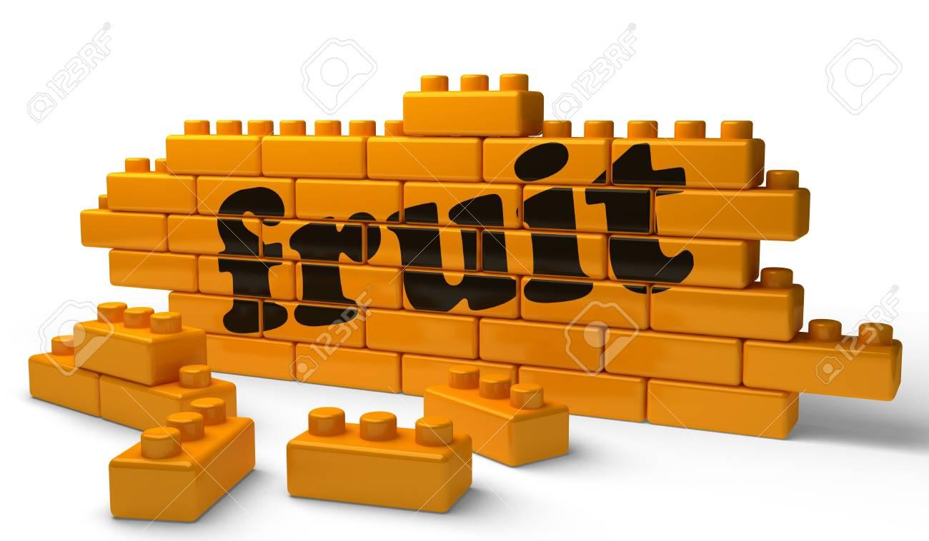 Word on yellow wall Stock Photo - 15362256