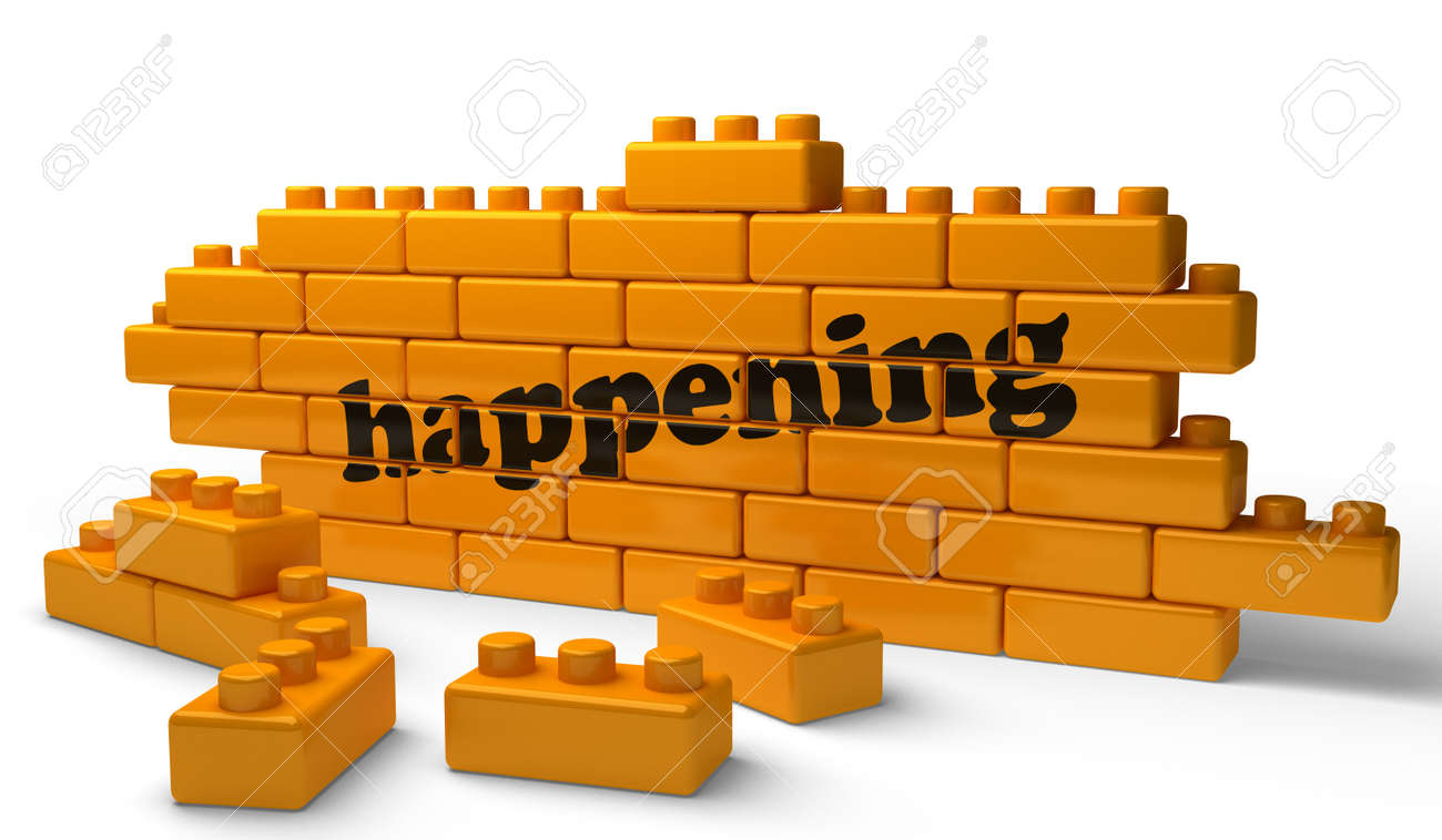 Word on yellow wall Stock Photo - 15377592