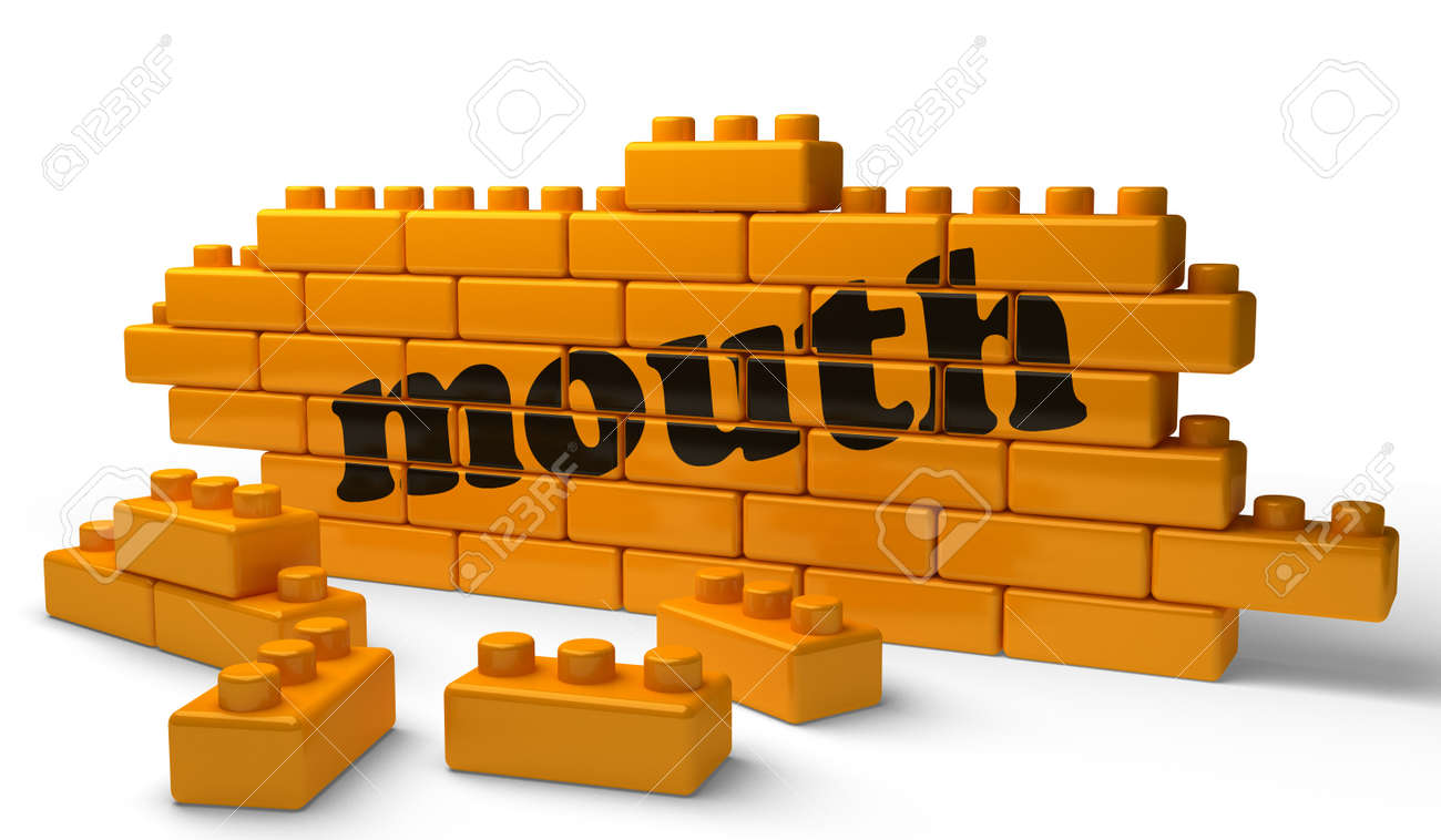 Word on yellow wall Stock Photo - 15524698