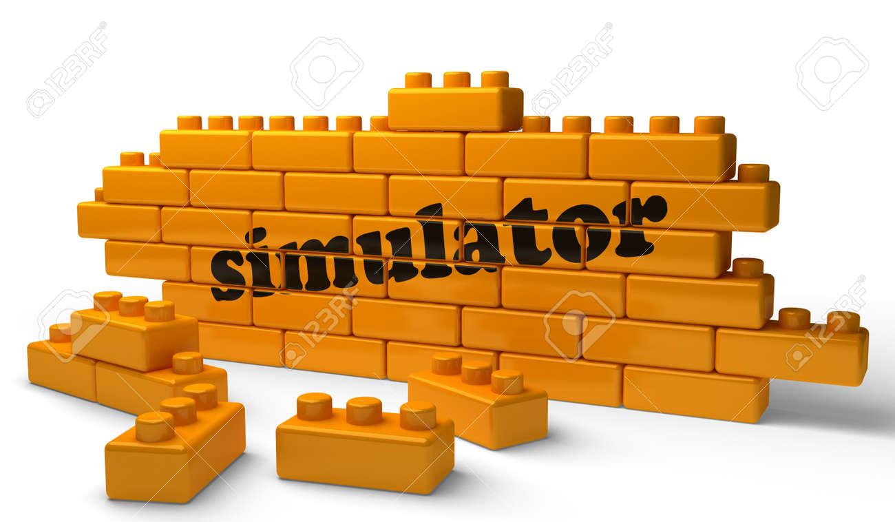 Word on yellow wall Stock Photo - 15376959