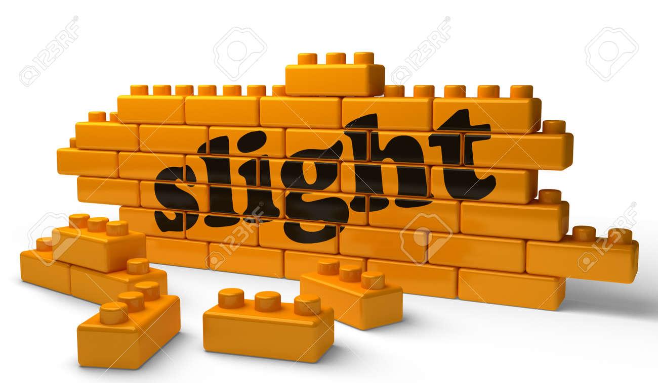 Word on yellow wall Stock Photo - 15371790