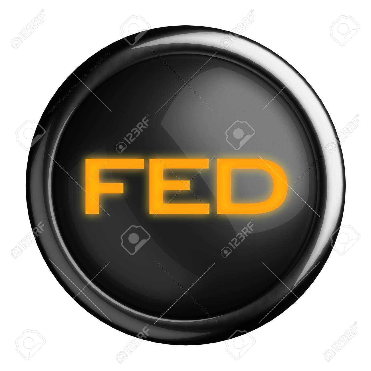 Word on black button Stock Photo - 15665480