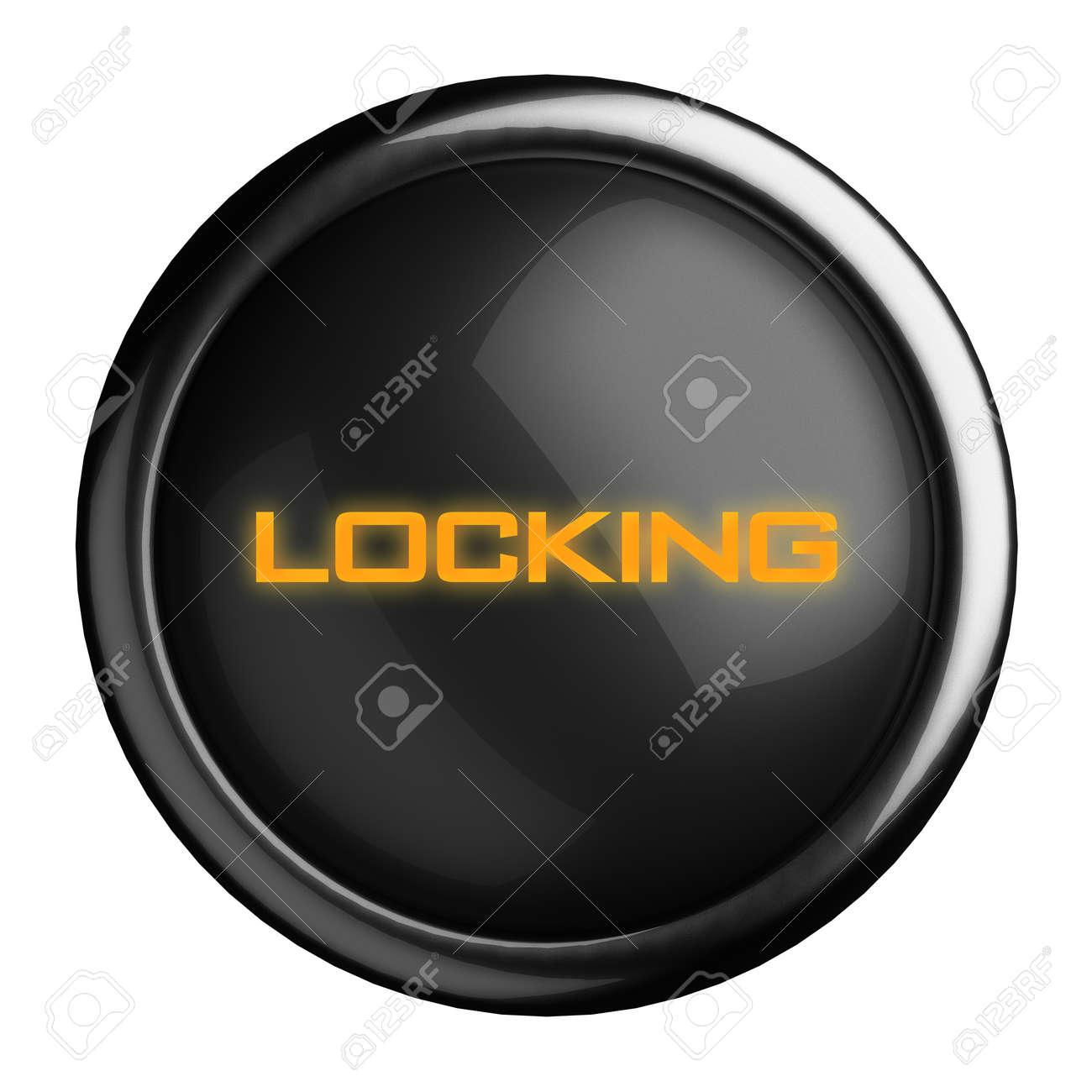 Word on black button Stock Photo - 15686832
