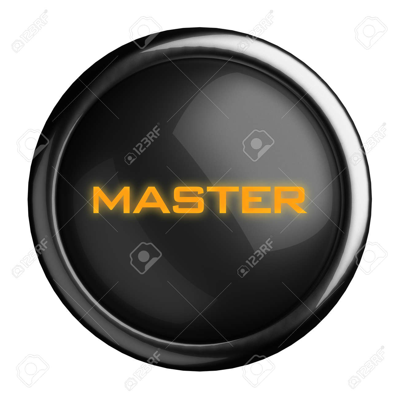 Word on black button Stock Photo - 15697891