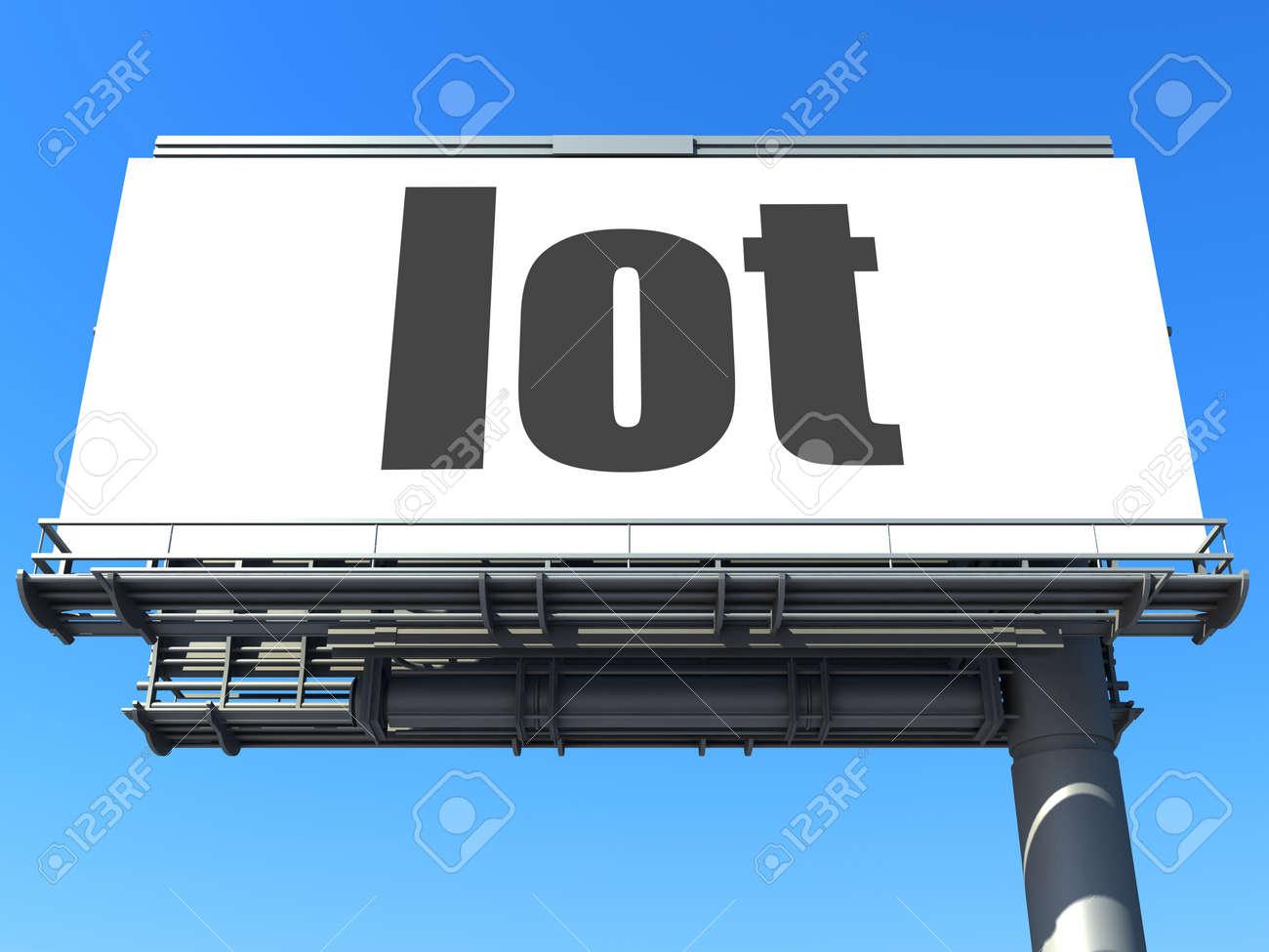 word on billboard Stock Photo - 19207660