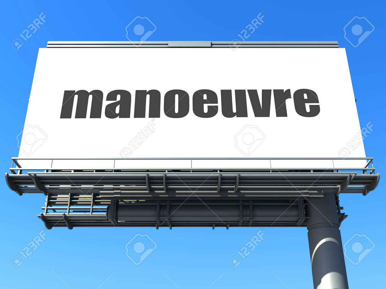 word on billboard Stock Photo - 19210918