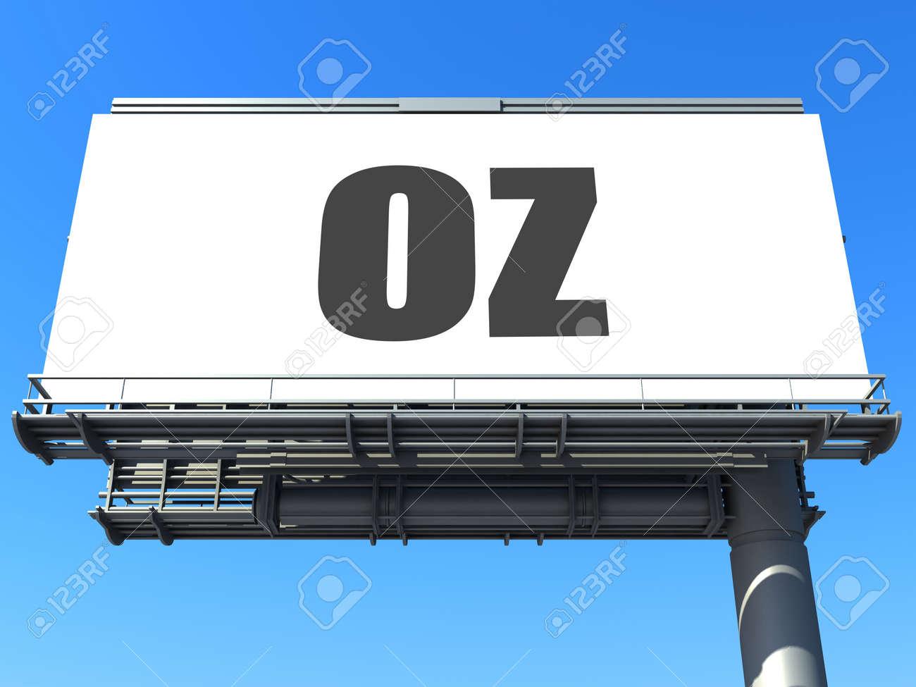 word on billboard Stock Photo - 19207647