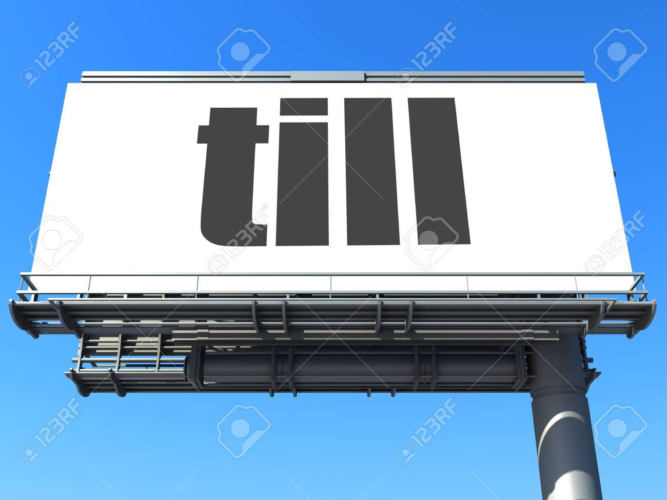 word on billboard Stock Photo - 19207661
