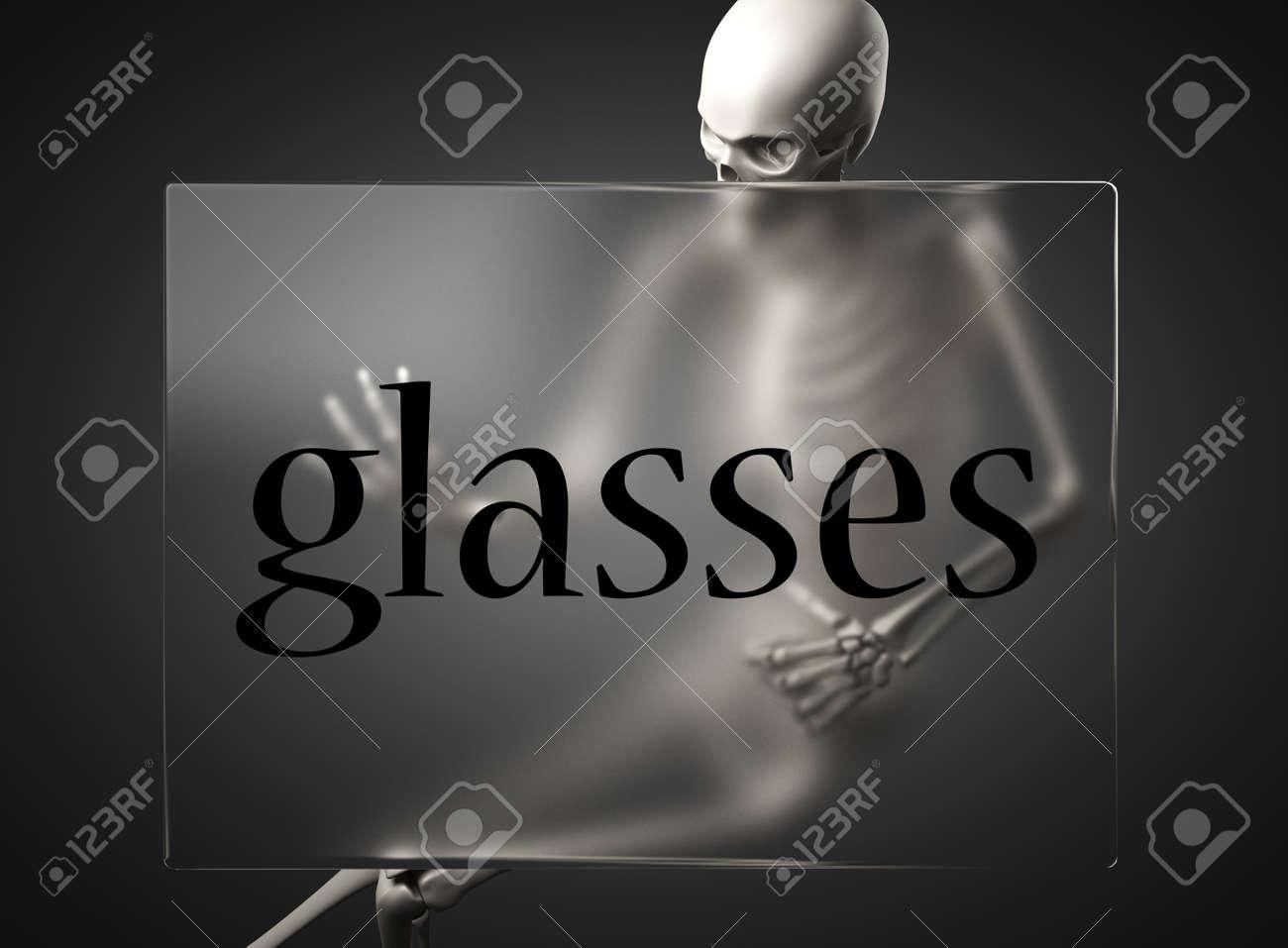word on glass billboard Stock Photo - 19647015
